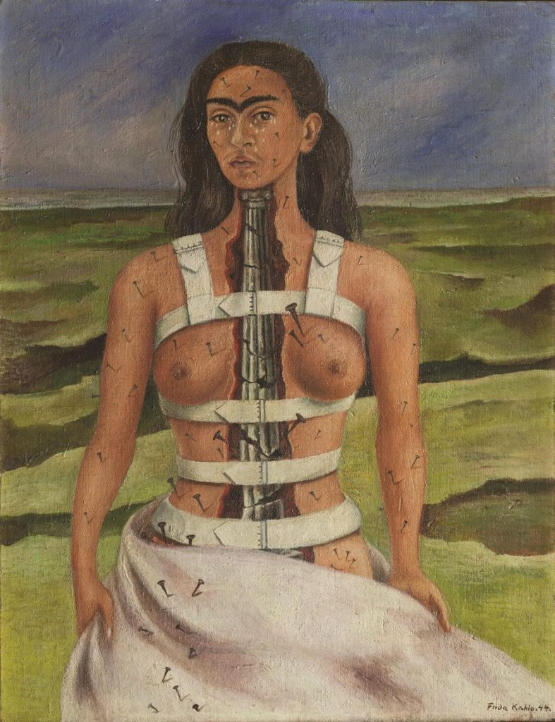 Frida Kahlo, The Broken Column, 1944, olieverf op doek, Museo Dolores Olmedo, Mexico City